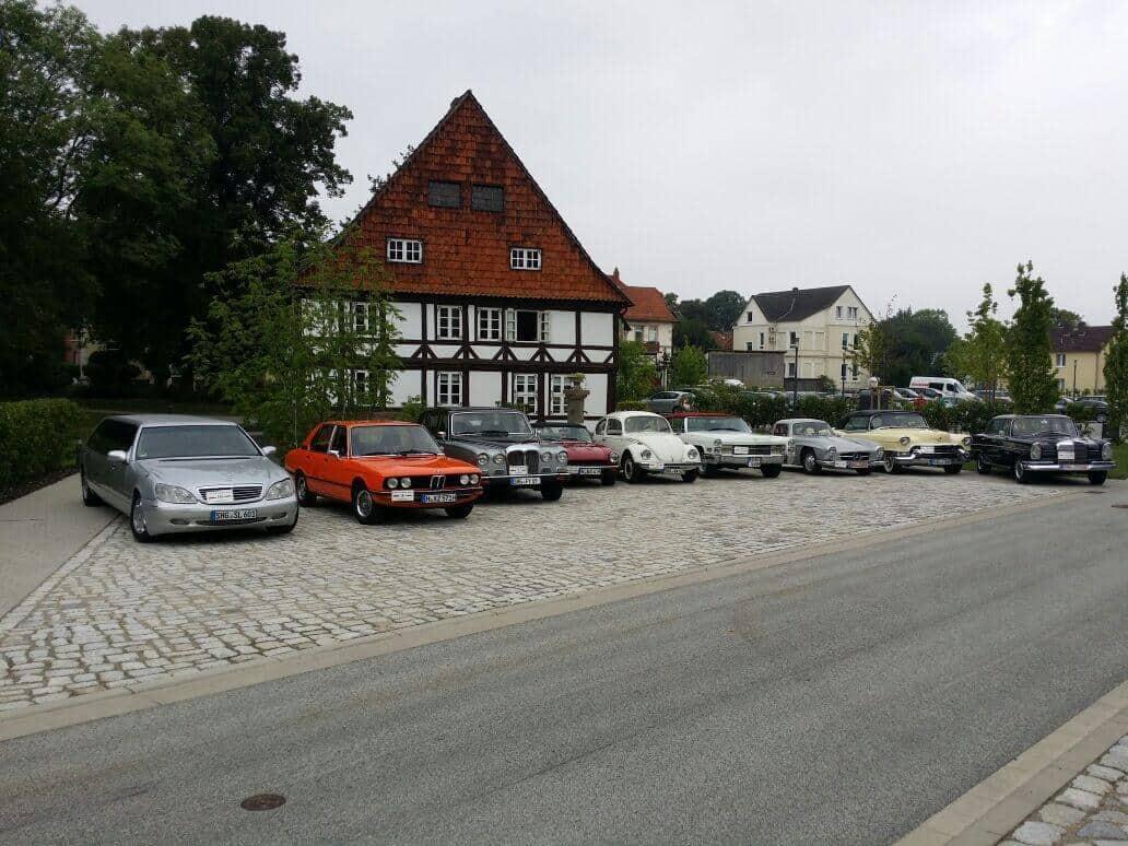 Oldtimer Hochzeitsauto HannoverSchloss Bückeburg